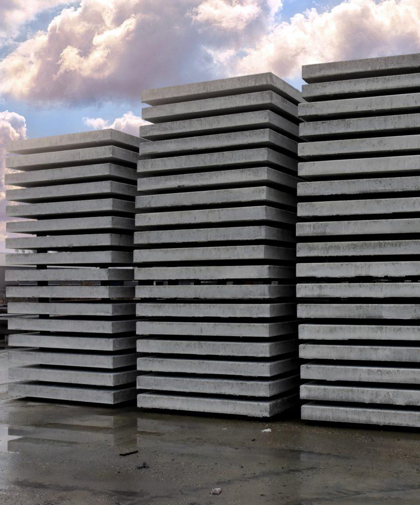 gebruikte betonplaten